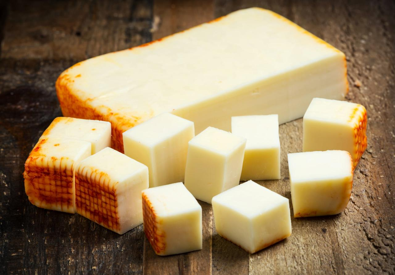 """<p>At just 0.3 grams of carbs per ounce, Muenster cheese is one of the best dairy options for the keto diet. Enjoy it in this <a href=""""http://www.popsugar.com/food/photo-gallery/42996225/embed/42996250/Slow-Jam-Mac-Cheese-Muenster-Cheese-Thyme-Red-Chilis"""" target=""""_blank"""" class=""""ga-track"""" data-ga-category=""""internal click"""" data-ga-label=""""http://www.popsugar.com/food/photo-gallery/42996225/embed/42996250/Slow-Jam-Mac-Cheese-Muenster-Cheese-Thyme-Red-Chilis"""" data-ga-action=""""body text link"""">mac and cheese recipe</a>, which you can make keto-friendly by swapping out the pasta for cauliflower.</p>"""