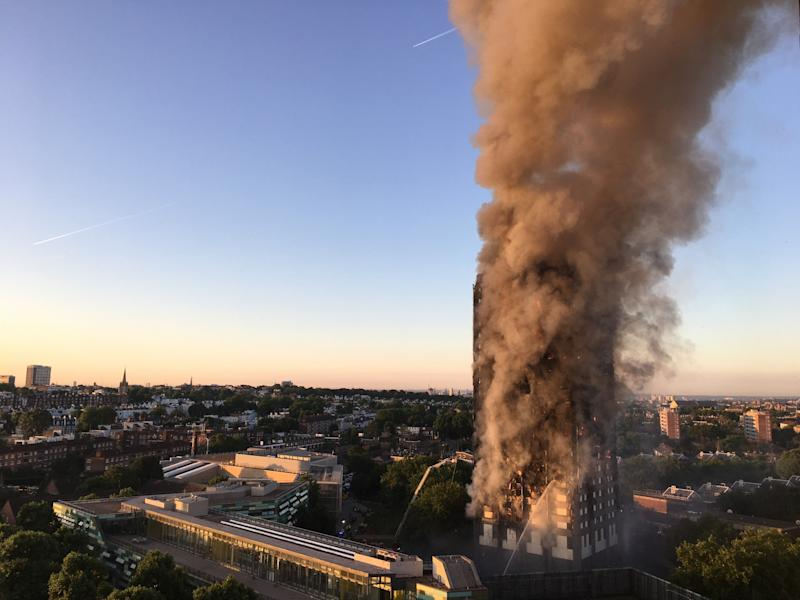 Smoke pours from the Grenfell Tower (PA Images)