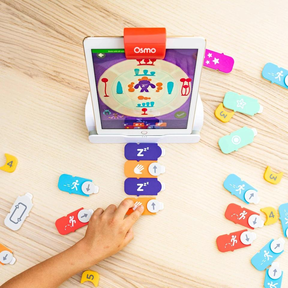 <p>This cool <span>Osmo Coding Starter Kit</span> ($100) is connected to an iPad and can teach them fun and useful computer and coding skills at an early age. The award-winning game is a great way to get them comfortable using technology.</p>