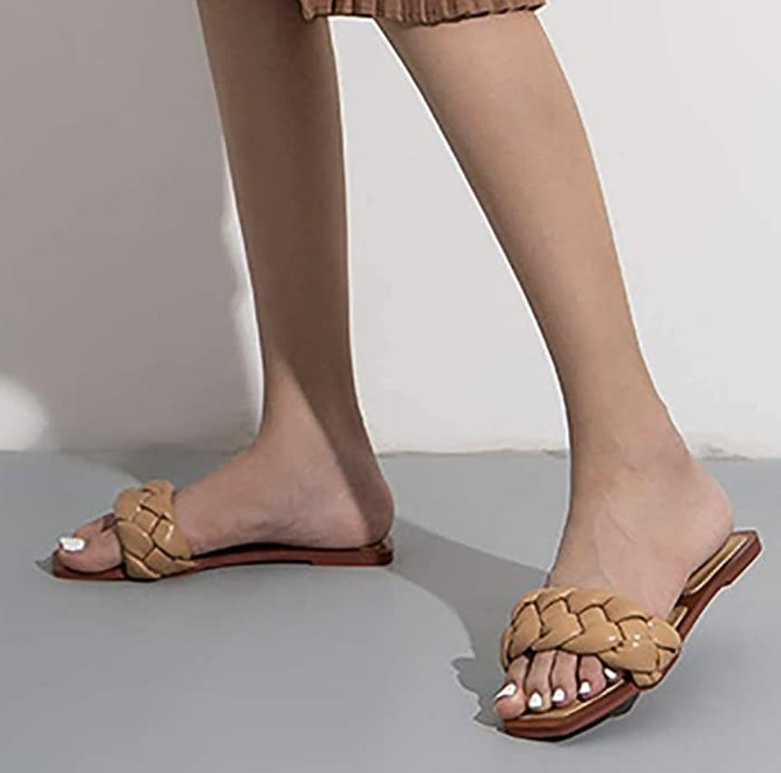 <p>The braided band of these <span>Juliet Holy Slide Sandals</span> ($30) has us sold.</p>
