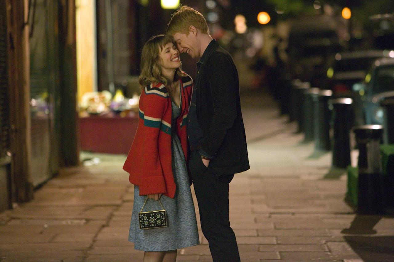 """<p> As soon as Tim (Domhnall Gleeson) learns he can time travel, he uses it to to win over the love of his life, Mary (<a class=""""sugar-inline-link ga-track"""" title=""""Latest photos and news for Rachel McAdams"""" href=""""https://www.popsugar.com/Rachel-McAdams"""" target=""""_blank"""" data-ga-category=""""Related"""" data-ga-label=""""https://www.popsugar.com/Rachel-McAdams"""" data-ga-action=""""&lt;-related-&gt; Links"""">Rachel McAdams</a>). However, it takes Tim a few tries, and some major life lessons, to master his new skill. </p> <p>Watch <strong> <a href=""""http://www.netflix.com/title/70261674"""" target=""""_blank"""" class=""""ga-track"""" data-ga-category=""""Related"""" data-ga-label=""""http://www.netflix.com/title/70261674"""" data-ga-action=""""In-Line Links"""">About Time</a> </strong> now.</p>"""
