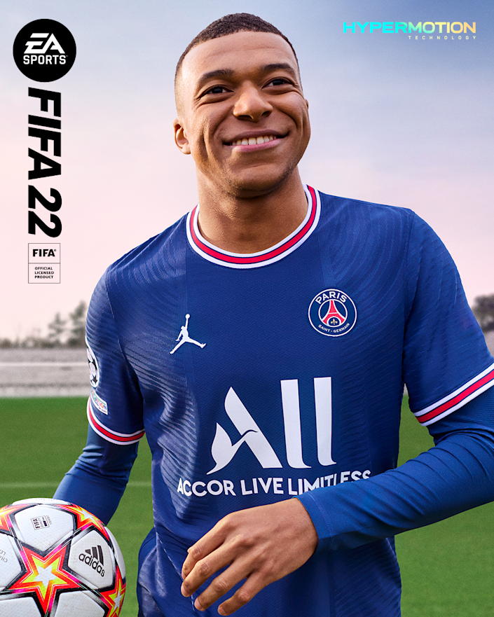 Kylian Mbappé , who plays for Paris Saint-Germain and the French national team, is a back-to-back 'FIFA 22' cover athlete.