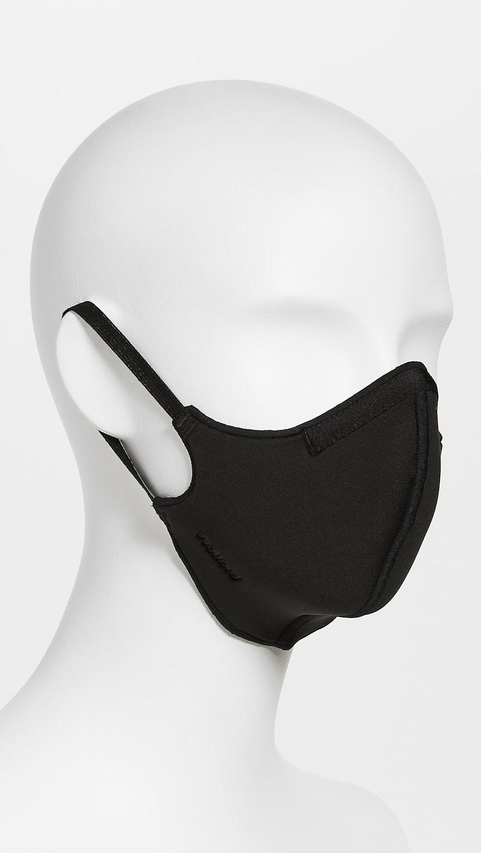 <p>You'll love this <span>Wolford Care Face Covering</span> ($35). Tt's an editor favorite because it's comfortable and covered.</p>