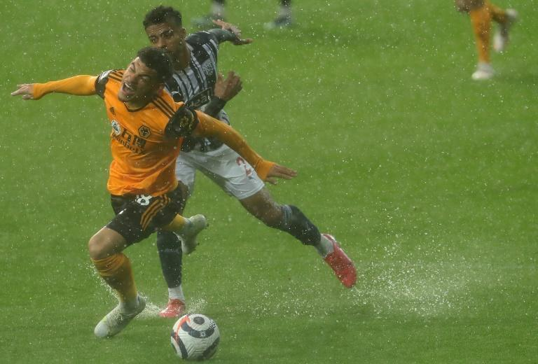 Going down: West Brom's 1-1 draw with Wolves edged the Baggies closer to relegation from the Premier League