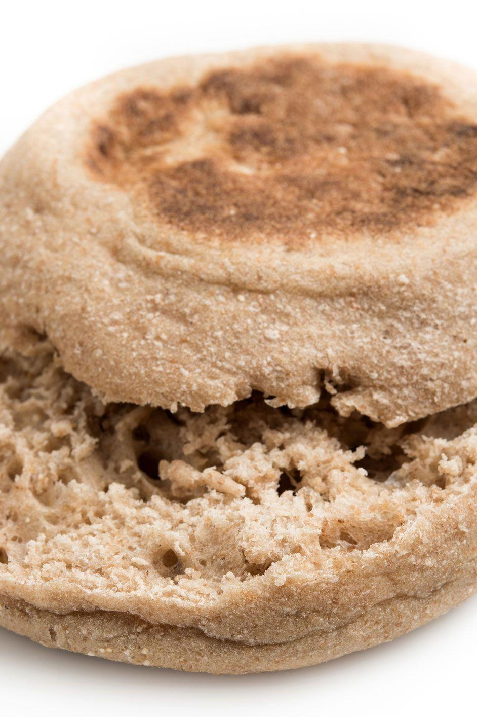 """<p>By pairing whole wheat English muffins with your morning eggs, you're getting 4 ½ grams of fiber for only 134 calories, according to the <a href=""""https://ndb.nal.usda.gov/ndb/foods/show/18266?max=25&sort=default&order=asc&qlookup=Whole+Wheat+English+Muffins"""" rel=""""nofollow noopener"""" target=""""_blank"""" data-ylk=""""slk:USDA"""" class=""""link rapid-noclick-resp"""">USDA</a>.</p><p><strong>Recipe to try:</strong> <a href=""""https://www.womansday.com/food-recipes/food-drinks/recipes/a12511/peanut-butter-jelly-muffins-recipe-wdy0214/"""" rel=""""nofollow noopener"""" target=""""_blank"""" data-ylk=""""slk:Peanut Butter and Jelly Muffins"""" class=""""link rapid-noclick-resp"""">Peanut Butter and Jelly Muffins</a></p>"""