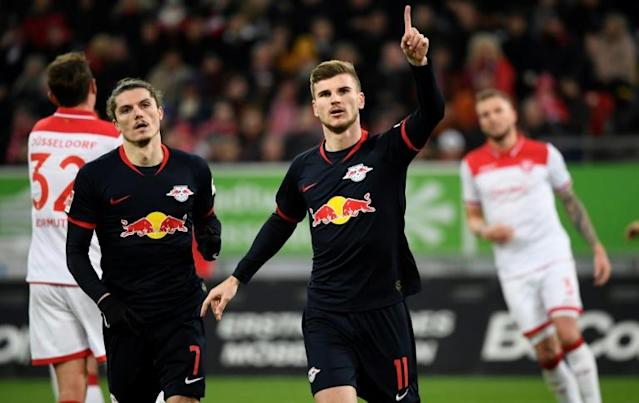 Timo Werner has scored 10 times in his past six Bundesliga games (AFP Photo/INA FASSBENDER)