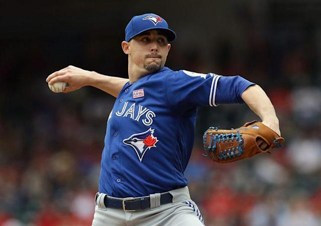 Aaron Sanchez has been a bankable ace, and he's in a good spot on Monday. (Photo by Ronald Martinez/Getty Images)