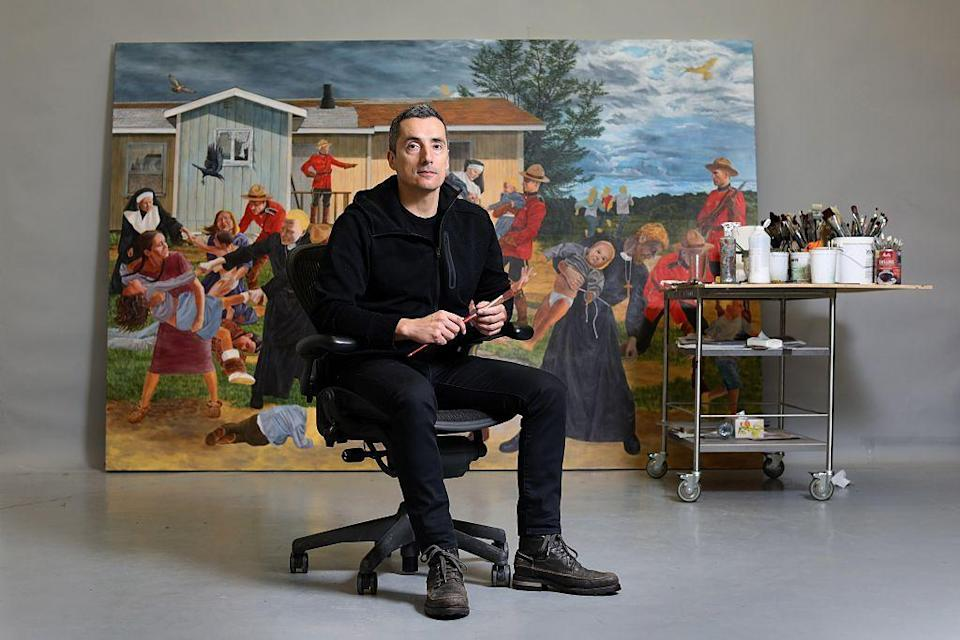 "<p><strong>Cree</strong></p><p>Kent Monkman has made a stunning career subverting the norms of western art with his paintings and large-scale installation work. Many of his <a href=""https://www.artsy.net/news/artsy-editorial-metropolitan-museum-art-acquired-kent-monkman-diptych"" rel=""nofollow noopener"" target=""_blank"" data-ylk=""slk:pieces place Indigenous characters in scenes"" class=""link rapid-noclick-resp"">pieces place Indigenous characters in scenes</a> that would usually feature all-white faces.</p><p>Monkman, who is based in Toronto <a href=""https://www.kentmonkman.com/biography"" rel=""nofollow noopener"" target=""_blank"" data-ylk=""slk:is part of the Fisher River Cree Nation"" class=""link rapid-noclick-resp"">is part of the Fisher River Cree Nation</a> of the Manitoba area. He self-identifies as both queer and <a href=""https://www.ihs.gov/lgbt/health/twospirit/"" rel=""nofollow noopener"" target=""_blank"" data-ylk=""slk:two spirit"" class=""link rapid-noclick-resp"">two spirit</a>, the latter of which means that in their tribes they have a status and specific roles distinct from those given to men or women.</p>"