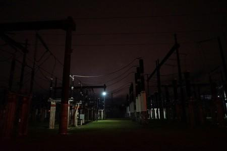 Power sub-station UTE Ramon Anador is seen working partially after a massive blackout in Argentina, in Montevideo