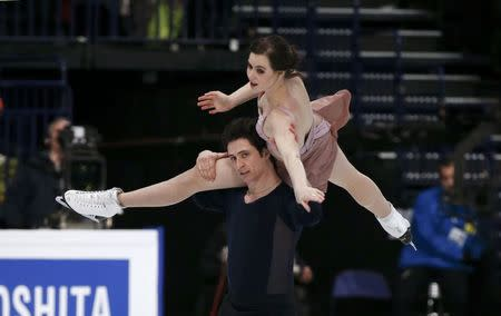 Figure Skating - ISU World Championships 2017 - Ice Dance Free Dance - Helsinki, Finland - 1/4/17 - Tessa Virtue and Scott Moir of Canada compete. REUTERS/Grigory Dukor