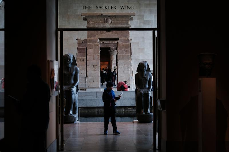 People visit the Sackler Wing at the Metropolitan Museum of Art on March 28, 2019 in New York City. | Spencer Platt—Getty Images