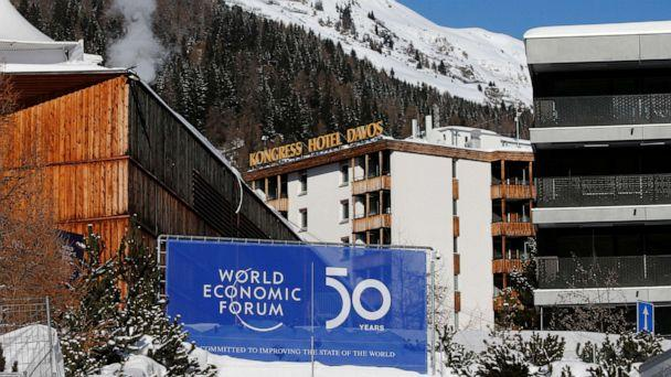 PHOTO: A sign is pictured at the Congress Center ahead of the World Economic Forum (WEF) annual meeting in Davos, Switzerland, Jan. 20, 2020. (Denis Balibouse/Reuters)