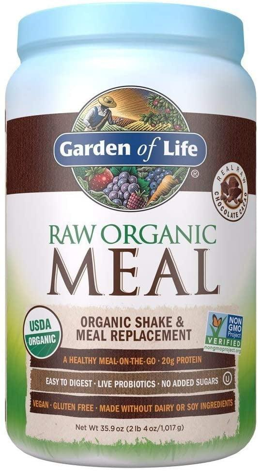 <p><span>Garden of Life Meal Replacement Organic Raw Plant Based Protein Powder, Chocolate</span> ($32, originally $45)</p>