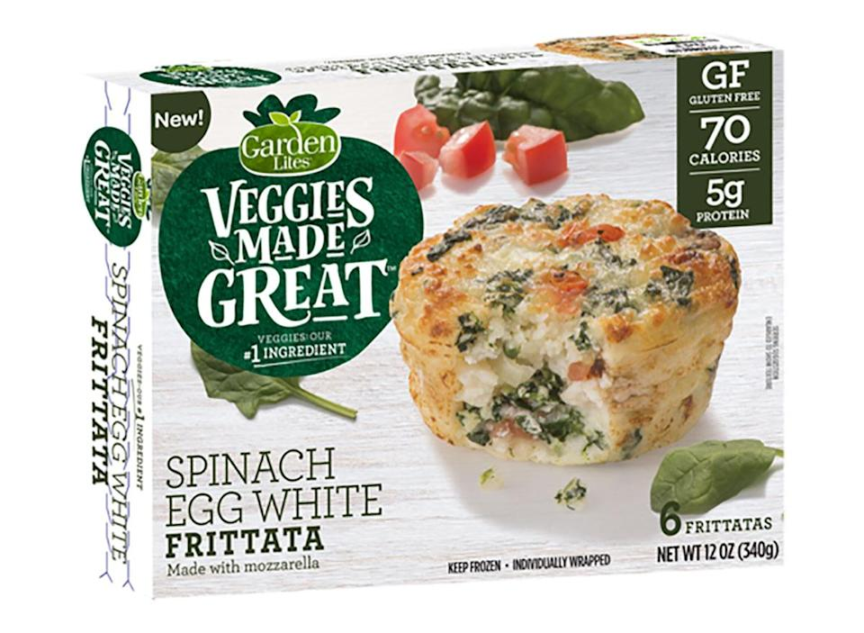 box of veggies made great spinach egg white frittatas
