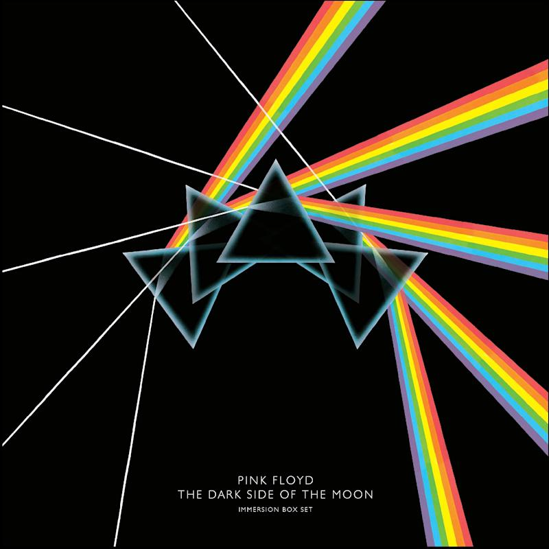 """In this box set cover image released by Capitol Records,  Pink Floyd's, """"The Dark Side of the Moon Immersion,"""" is shown. (AP Photo/Capitol Records)"""