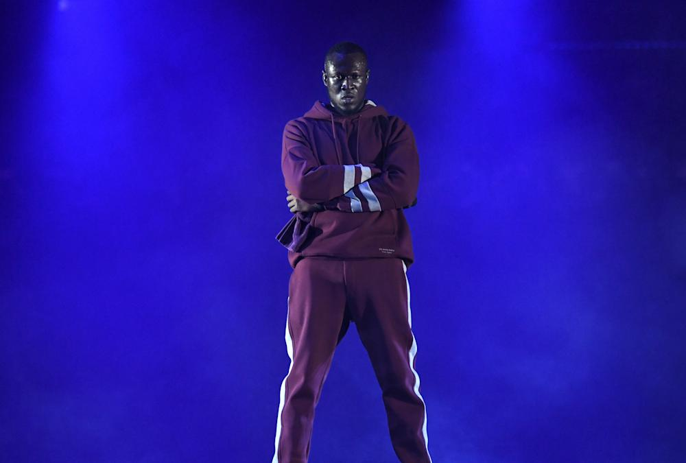 Stormzy on stage at the MTV Music Awards in London (Doug Peters/EMPICS Entertainment)
