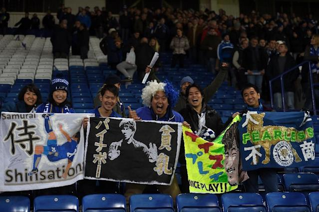 Leicester City fans at the King Power Stadium on November 22, 2016 (AFP Photo/Paul Ellis)