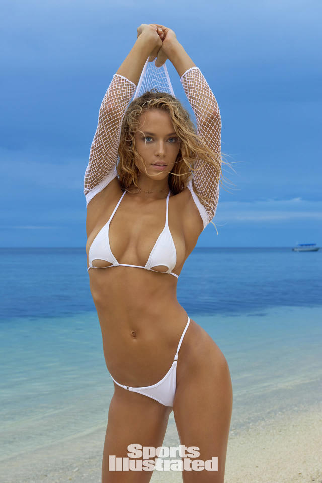 <p>Hannah Ferguson was photographed by Yu Tsai in Fiji. Swimsuit by Toxic Sadie Swimwear. Top by We Love Colors.</p>