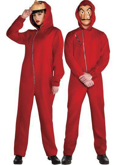 """<p>partycity.com</p><p><strong>$30.00</strong></p><p><a href=""""https://www.partycity.com/adult-money-heist-couples-costumes-G842709.html?cgid=couples-costumes"""" rel=""""nofollow noopener"""" target=""""_blank"""" data-ylk=""""slk:BUY IT HERE"""" class=""""link rapid-noclick-resp"""">BUY IT HERE</a></p><p>Become your favorite criminal masterminds from TV thriller hit <em>Money Heist</em> with the help of this costume<em>. </em>It's a great option for someone who wants a one-and-done look for the night.</p>"""