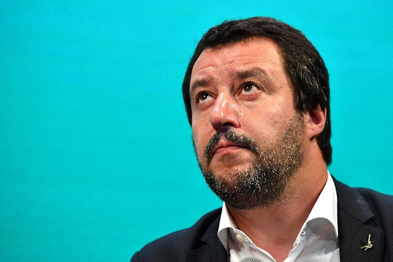 Italy's Interior Minister and deputy PM Matteo Salvini said France should apologise for its leader's comments in the Aquarius migrant boat dispute (AFP Photo/Alberto PIZZOLI)