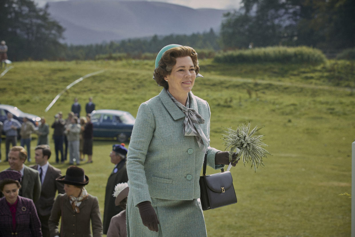 Olivia Colman as the Queen in series four of The Crown (Netflix/PA)