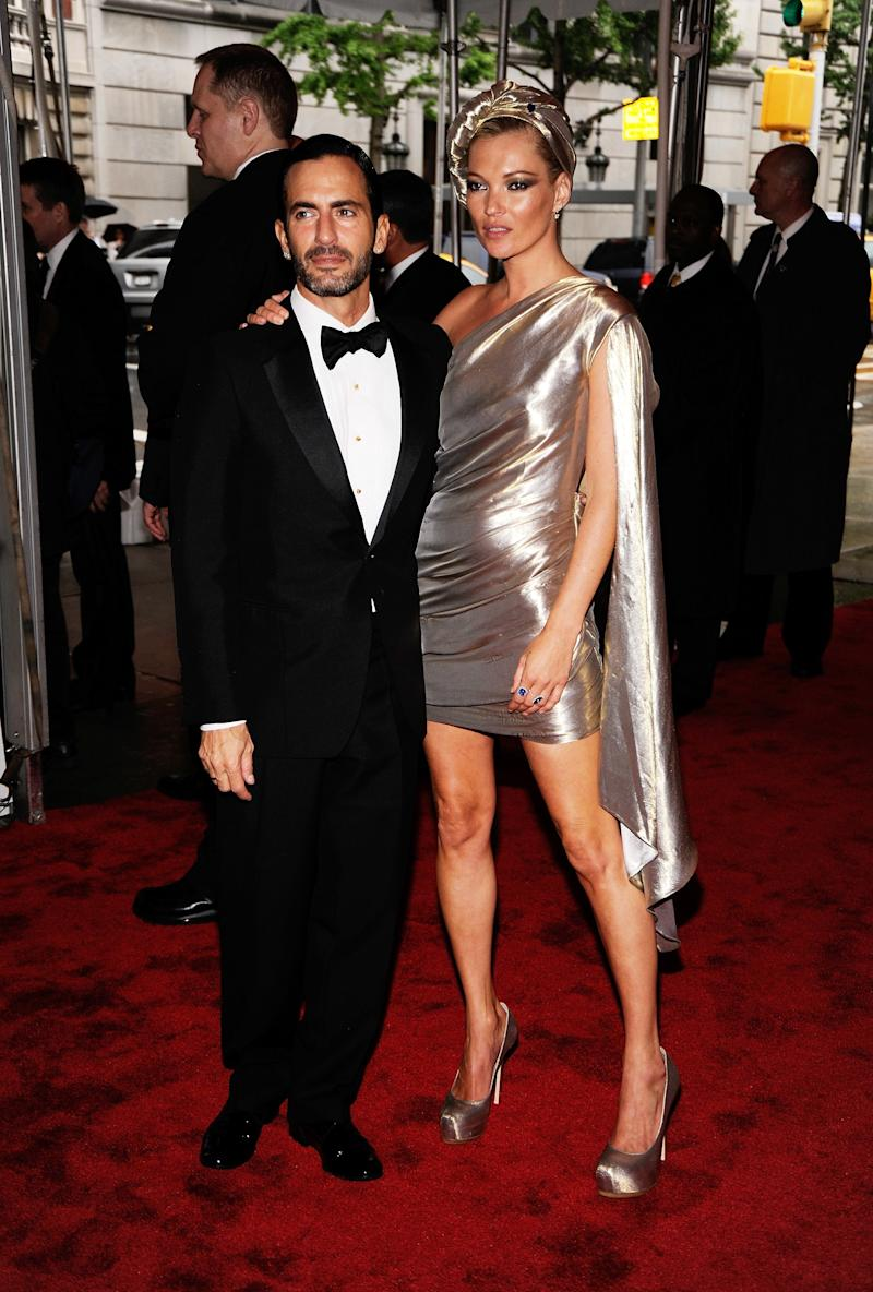 """Kate Moss in Marc Jacobs at the 2009 Met Gala """"The Model as Muse."""" Photo by Getty Images."""