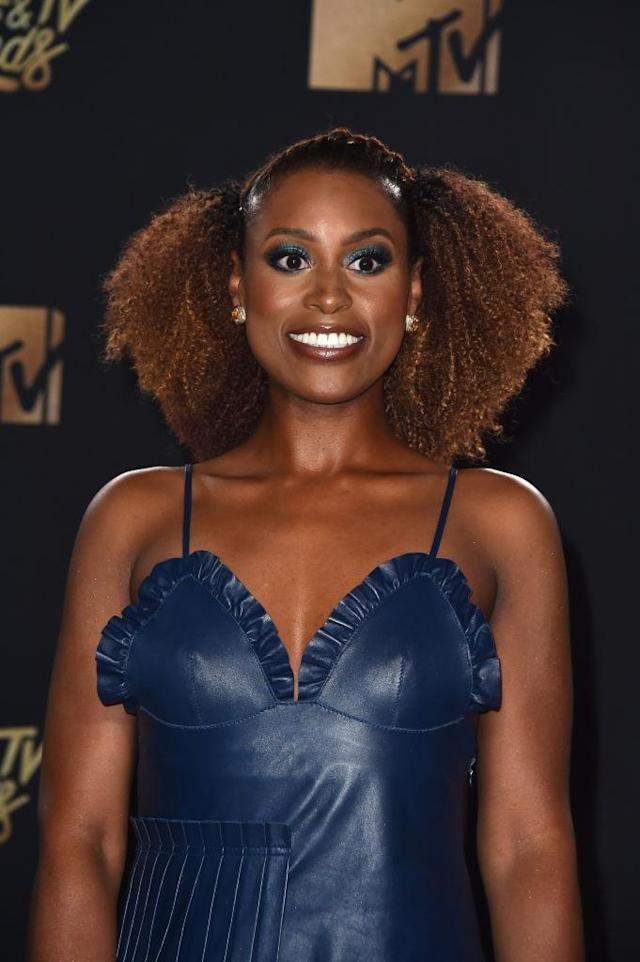 Issa Rae attends the 2017 MTV Movie and TV Awards in Los Angeles, Calif. (Photo: Alberto E. Rodriguez/Getty Images)