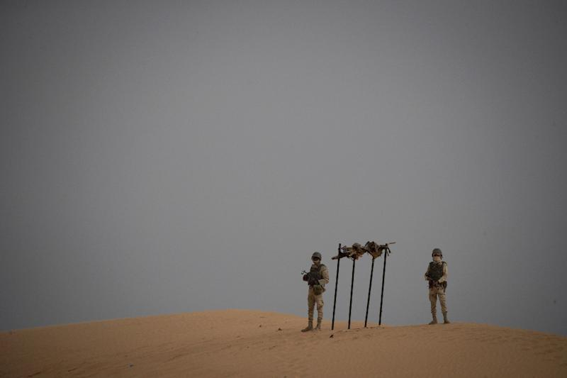 Mauritanian soldiers are one of the forces involved in the G5 Sahel mission across the region (AFP Photo/THOMAS SAMSON)