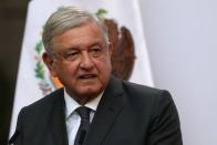 Mexico's President Andres Manuel Lopez Obrador addresses to the nation on his second anniversary as the President of Mexico, at the National Palace in Mexico City