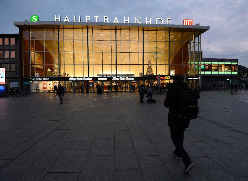The spate of sex attacks occured on New Year's Eve near the main railway station in Cologne, western Germany (AFP Photo/Roberto Pfeil)