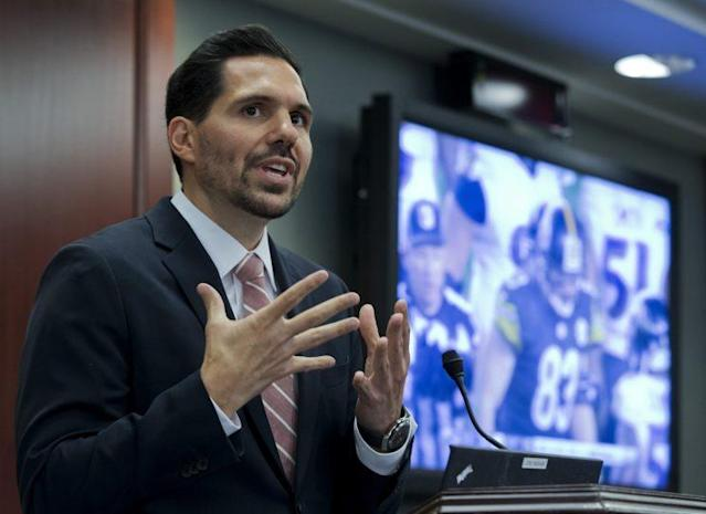 Dean Blandino has reportedly resigned from his job as NFL vice president of officiating. (AP)