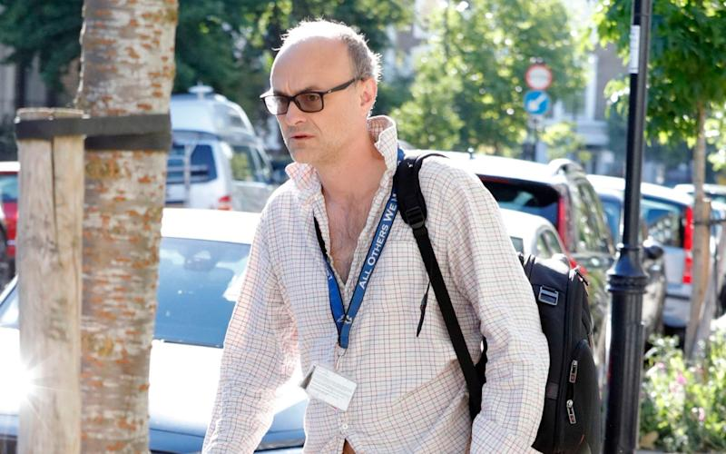 Dominic Cummings outside his home in London, England on July 02, 2020 - Rick Gold/Capital Pictures
