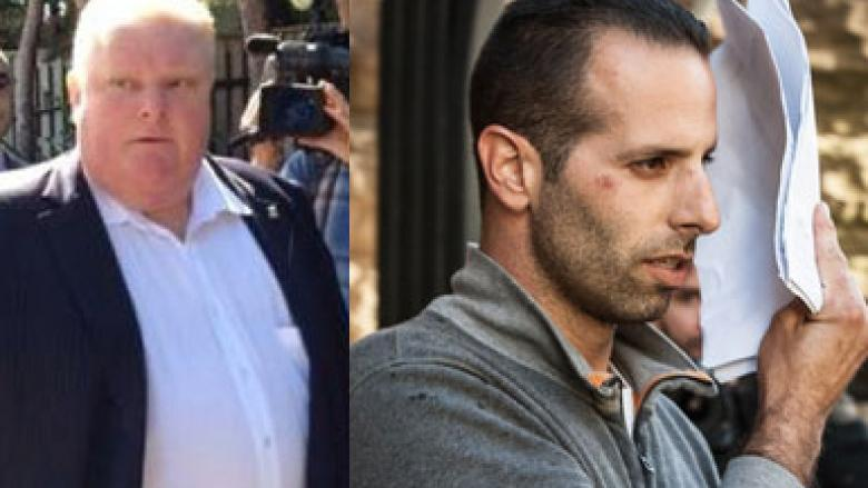 """Toronto Mayor Rob Ford, left, has described his friend and occasional driver Alessandro (Sandro) Lisi as a """"good guy."""" Documents related to search warrants that led to Lisi's arrest are to be released Thursday."""