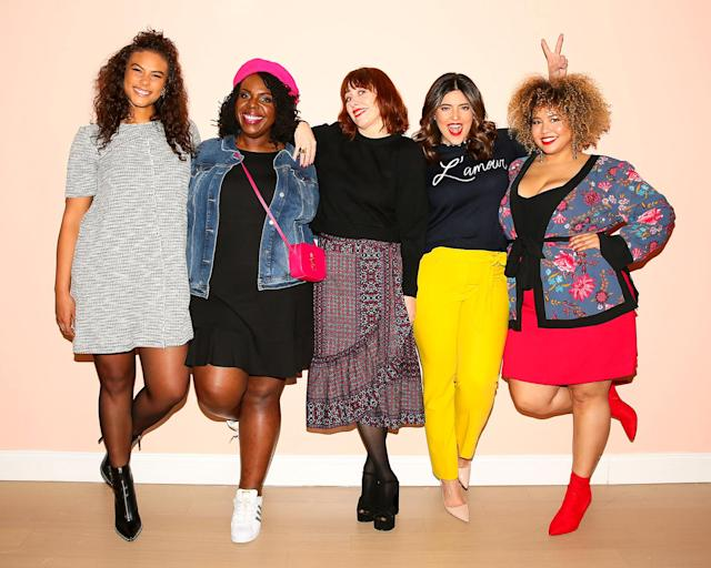 Marquita Pring, CeCe Olisa, Penny Lovell, Denise Bidot, and Gabi Gregg at a Loft Plus event in New York. (Photo: BFA)