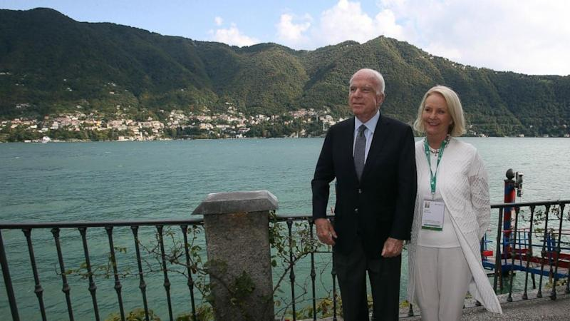 McCains head to Italy for a forum before the senator returns to Washington next week