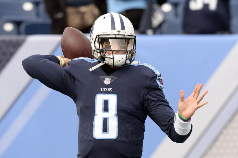 The Tennessee Titans are revealing new uniforms on Wednesday. (AP)