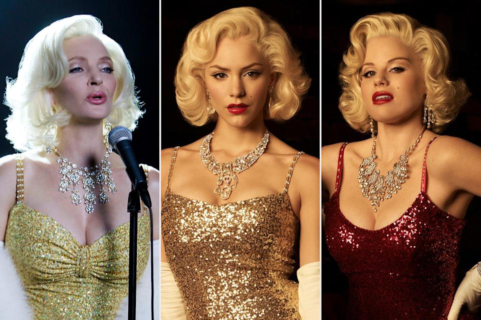 <p>In 2012, the three actresses each took their turn as Monroe in <em>Smash</em>, a series about the staging of a fictional Marilyn Monroe musical, appropriately named <em>Bombshell</em>. </p>
