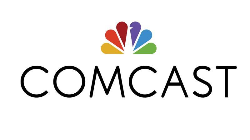 The Comcast Corp logo is seen in this undated handout photo