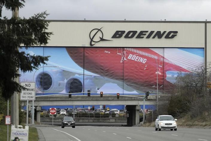 """Boeing's manufacturing facility can be seen in Everett, Wash. An executive with the company recently stepped down after a 33-year-old essay he wrote resurfaced. <span class=""""copyright"""">(Ted S. Warren / Associated Press)</span>"""
