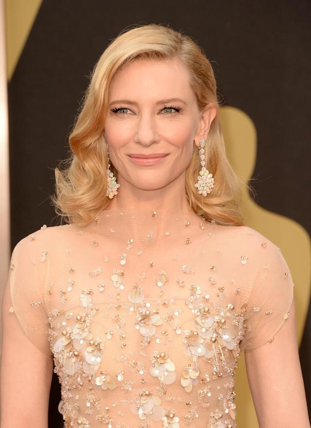<p>Cate Blanchett attends the Oscars held at Hollywood and Highland Center on March 2, 2014, in Hollywood. (Photo: Getty Images) </p>
