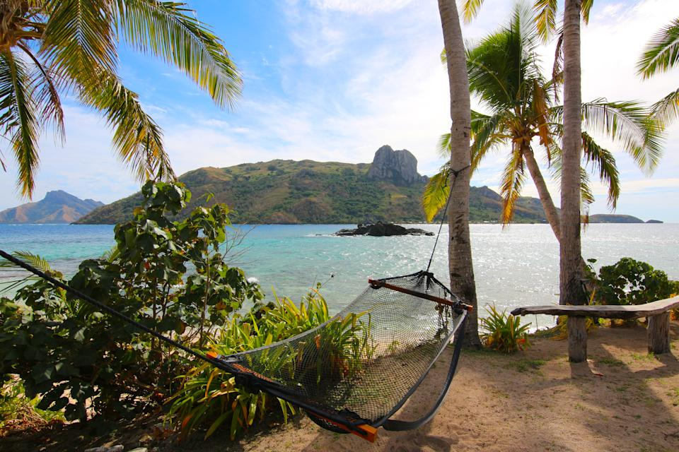 Fiji is a tropical paradise with turquoise water