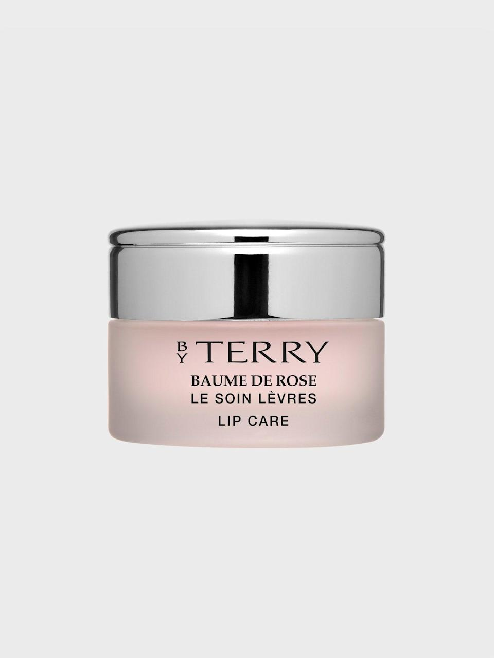 "<h3>By Terry Baume De Rose</h3> <br>Good things come in small packages...especially when it's a tiny pink box of By Terry's top-selling Baume De Rose. (P.S. We also love the <a href=""https://www.verishop.com/by-terry/lip-gloss/baume-de-rose-nutri-couleur/p1881961693219?variant_id=15612535930915"" rel=""nofollow noopener"" target=""_blank"" data-ylk=""slk:tinted options"" class=""link rapid-noclick-resp"">tinted options</a> for sheer, glossy color with the same hydrating benefits.)<br><br><strong>By Terry</strong> Baume de Rose, $, available at <a href=""https://go.skimresources.com/?id=30283X879131&url=https%3A%2F%2Fwww.verishop.com%2Fby-terry%2Flip-balm%2Fbaume-de-rose-jar%2Fp1882002194467%3Fvariant_id%3D15612729786403"" rel=""nofollow noopener"" target=""_blank"" data-ylk=""slk:Verishop"" class=""link rapid-noclick-resp"">Verishop</a><br>"