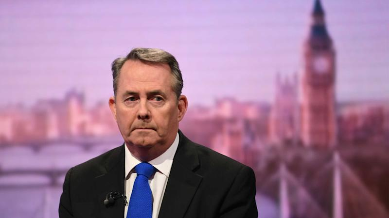 Liam Fox's department u-turns on Brexit trade deal pledge
