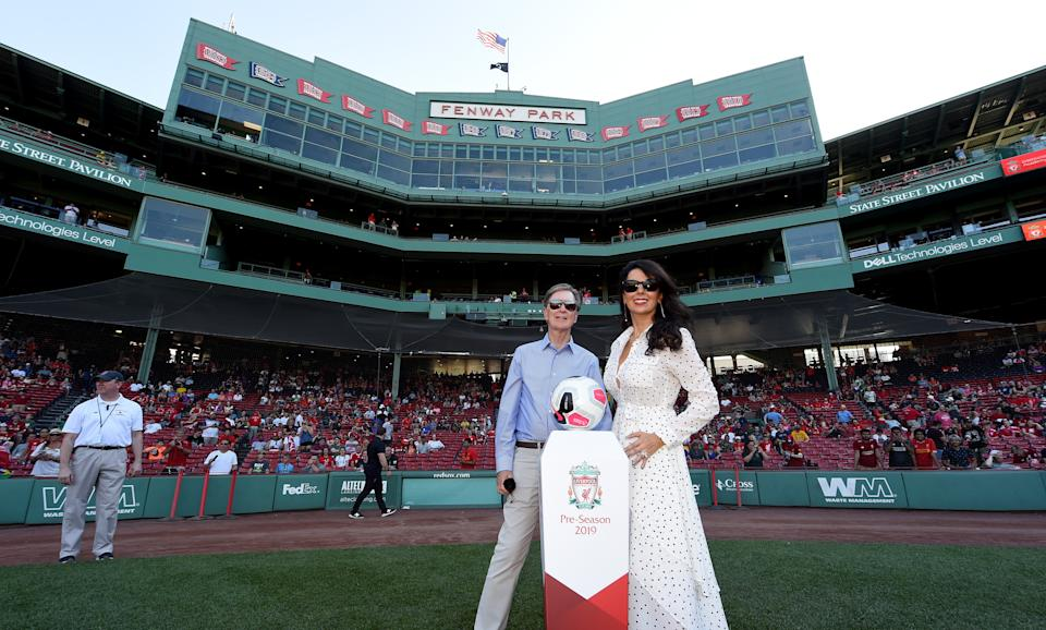 Henry's wife Linda Pizzuti Henry didn't hesitate in taking an interest in the clubGetty