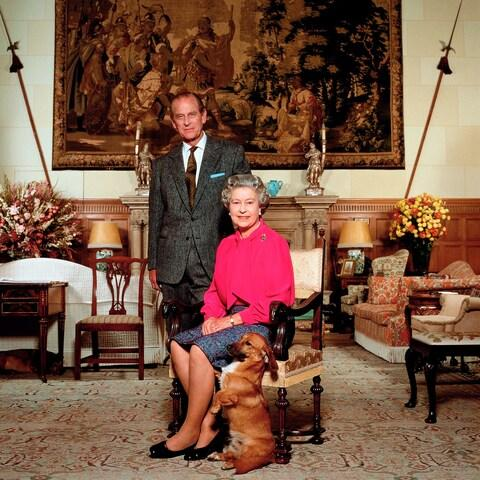 The official portrait taken by Terry O'Neill CBE of HM Queen Elizabeth II and HRH Prince Philip, 1992 - Credit: Terry O'Neill / Iconic Images