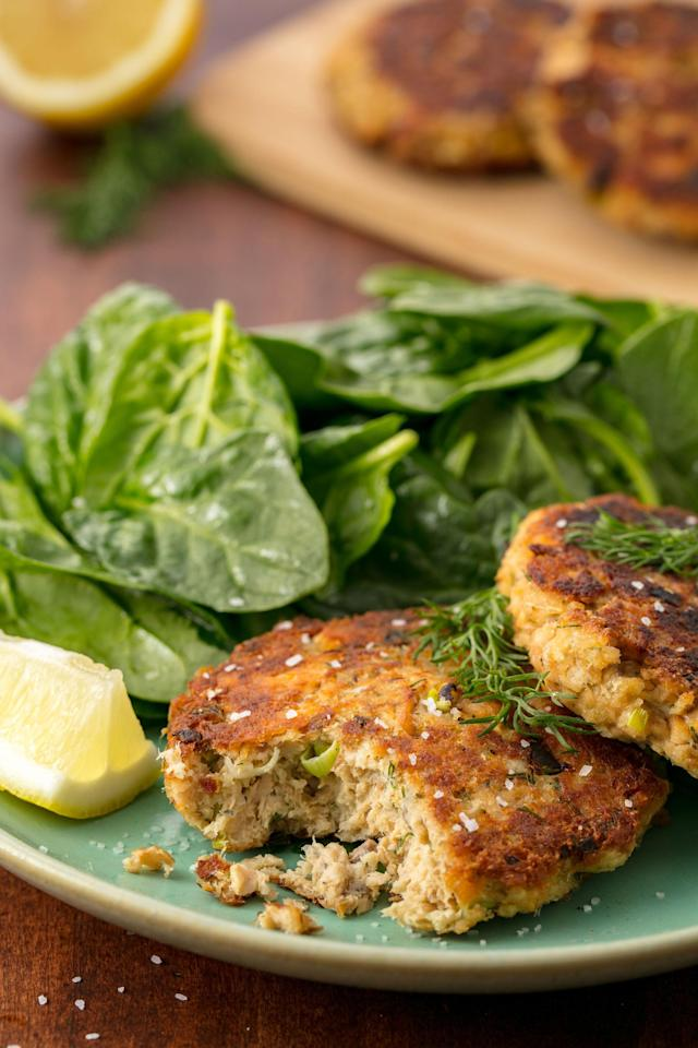 """<p>You need to make these salmon patties.</p><p>Get the recipe: <a href=""""http://www.delish.com/cooking/recipe-ideas/recipes/a55509/salmon-patties/"""" rel=""""nofollow noopener"""" target=""""_blank"""" data-ylk=""""slk:Salmon Patties"""" class=""""link rapid-noclick-resp"""">Salmon Patties</a></p>"""