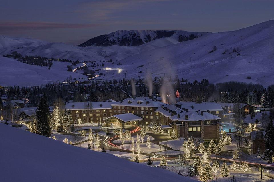 "<p>At Idaho's beloved Sun Valley ski resort, the Sun Valley Lodge boasts suites named after celebrities including Clint Eastwood, Marilyn Monroe and <a href=""https://www.housebeautiful.com/lifestyle/a5336/ernest-hemingway-assistant-valerie-hemingway/"" rel=""nofollow noopener"" target=""_blank"" data-ylk=""slk:Ernest Hemingway"" class=""link rapid-noclick-resp"">Ernest Hemingway</a>. The writer finished his novel, ""For Whom the Bell Tolls"" in Room 206 back in 1940, and though the classic lodge remains in the same spot, it's since had a serious lift — a new, 20,000-square-foot spa, in-room fireplaces, and more.</p><p><strong>EXPLORE NOW:</strong> <a href=""https://www.tripadvisor.com/Hotel_Review-g35614-d484110-Reviews-Sun_Valley_Lodge-Sun_Valley_Idaho.html"" rel=""nofollow noopener"" target=""_blank"" data-ylk=""slk:Sun Valley Lodge"" class=""link rapid-noclick-resp"">Sun Valley Lodge</a></p>"