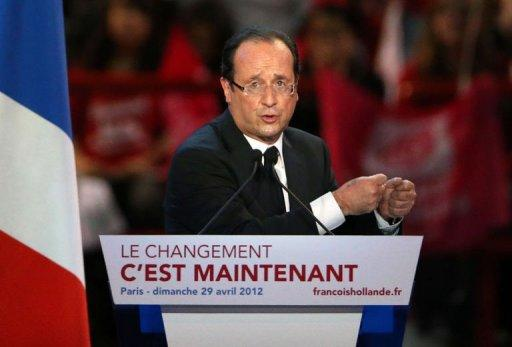 French Presidential election candidate Francois Hollande is the favourite to win next week's vote