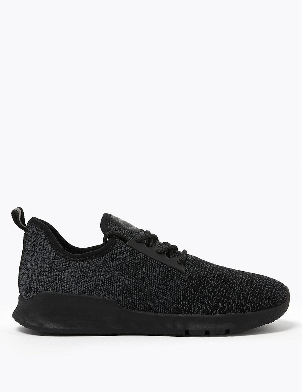 """<p><strong>Which style? </strong>Lace Up Knitted Trainers</p><p><strong>How much? </strong>£49.50</p><p><a class=""""link rapid-noclick-resp"""" href=""""https://go.redirectingat.com?id=127X1599956&url=https%3A%2F%2Fwww.marksandspencer.com%2Flace-up-knit-trainers%2Fp%2Fclp60370091%3Fcolor%3DBLACK%26awc%3D11548_1599125311_f96cb4e1947d838bfc55d88b06dfa445&sref=https%3A%2F%2Fwww.womenshealthmag.com%2Fuk%2Ffitness%2Fg28619284%2Fvegan-trainers%2F"""" rel=""""nofollow noopener"""" target=""""_blank"""" data-ylk=""""slk:SHOP NOW"""">SHOP NOW</a></p><p>The high street has really upped its game in the past year, with most stores offering at least one vegan option for shoppers. If you can't quite stretch to spenny sportswear brands, <a href=""""https://www.womenshealthmag.com/uk/gym-wear/a31093826/marks-and-spencer-activewear/"""" rel=""""nofollow noopener"""" target=""""_blank"""" data-ylk=""""slk:Marks & Spencer's"""" class=""""link rapid-noclick-resp"""">Marks & Spencer's</a> running trainers are a great alternative.</p><p>Set on a shock-absorbing wedge sole, this vegan running shoe is crafted in a slip-on shape from knitted Tencel™ fibres (derived from wood pulp, double brownie points for M&S).</p><p>Choose from black, marl grey or pink.</p>"""