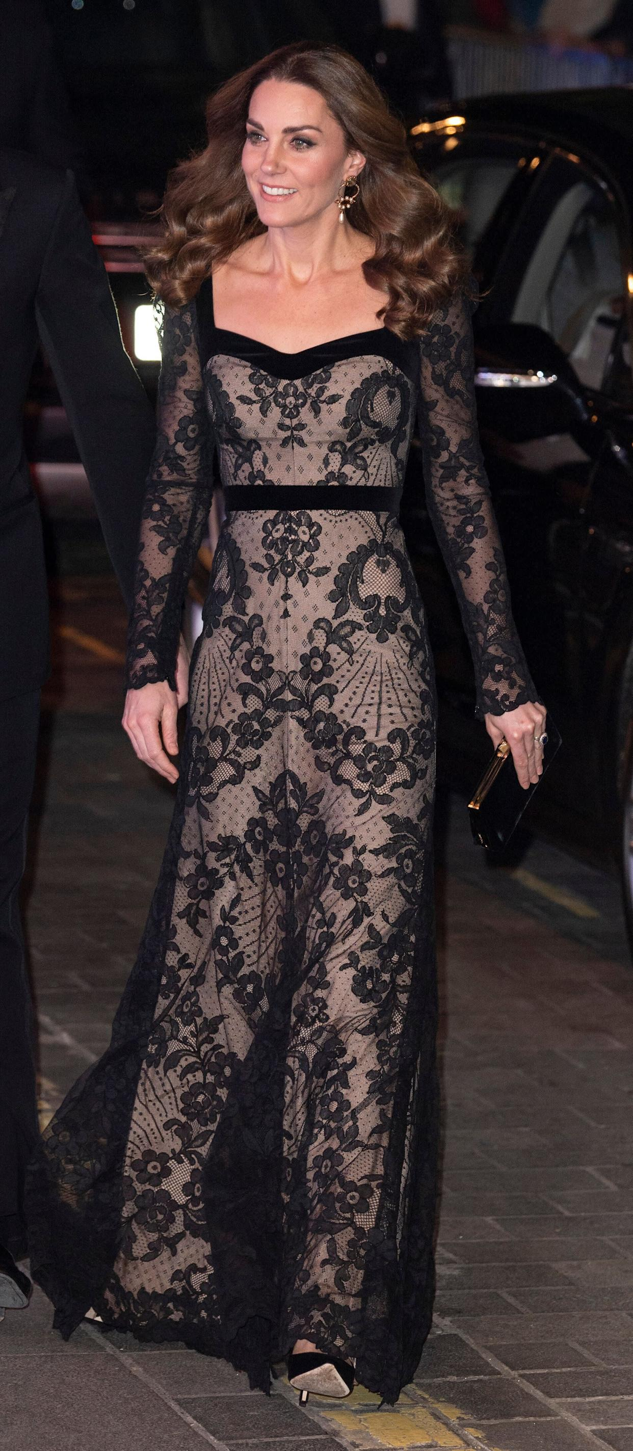 The Duchess of Cambridge at the Royal Variety Performance in London on Nov. 18.